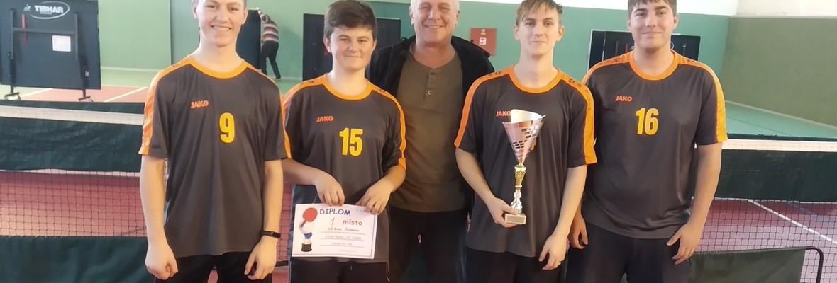 Úspěch našich žáků ve stolním tenise družstev