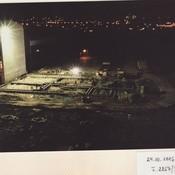 Stavba v noci